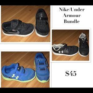 Nike & Under Armour Boys Tennis Shoes